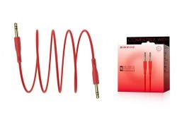Кабель удлинитель BOROFONE BL1 AUX Audio cable 3.5 1 метр красный