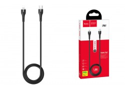 HOCO X55 Trendy PD charging data cable for Type-C to Lightning 1м черный