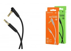 Кабель удлинитель BOROFONE BL4 AUX Audio cable 3.5 1 метр черный
