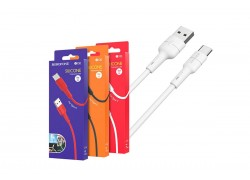 USB D.CABLE BOROFONE BX30 Silicone charging data cable for Type-C (белый) 1 метр